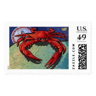 Citizen Crab of Virginia Postage