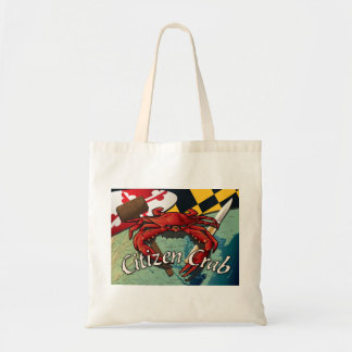 Citizen Crab with mallet and knife Canvas Bags