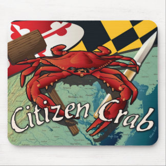 Citizen Crab with mallet and knife Mouse Pad