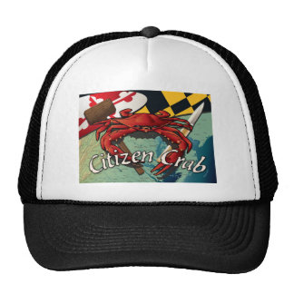 Citizen Crab with mallet and knife Trucker Hat