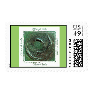 """""""Citizen of Earth"""" Postage Stamp"""