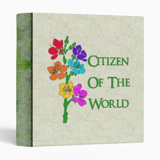 Citizen Of The World 3 Ring Binder