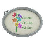 Citizen of the World Belt Buckles