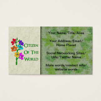 Citizen Of The World Business Card