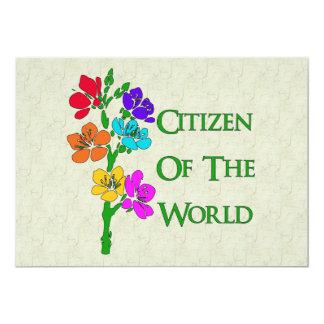 Citizen Of The World 5x7 Paper Invitation Card