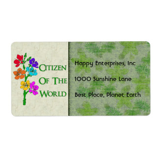 Citizen Of The World Shipping Label