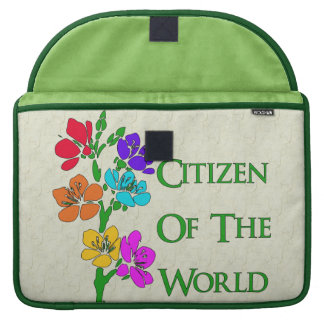 Citizen Of The World Sleeve For MacBook Pro