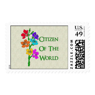 Citizen Of The World Postage Stamps