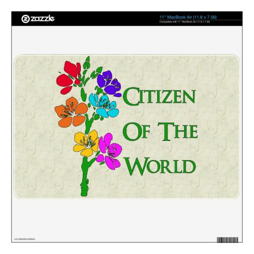 Citizen Of The World Skins For The MacBook Air