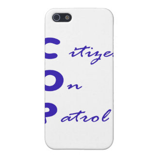 Citizen On Patrol 4/4S  Cover For iPhone SE/5/5s