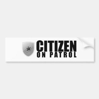 Citizen on Patrol Bumper Sticker