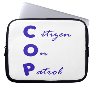 Citizen On Patrol Laptop Sleeve