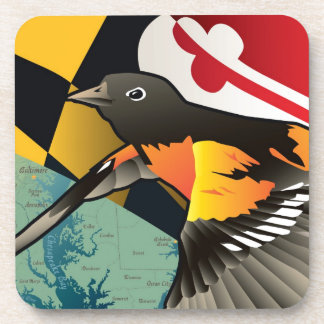 Citizen Oriole, Maryland's State Bird Drink Coasters