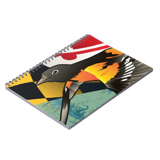 Citizen Oriole, Maryland's State Bird Spiral Note Book