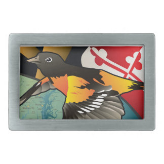 Citizen Oriole, Maryland's State Bird Rectangular Belt Buckle