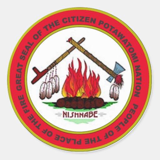 Citizen Potawatomi Nation Round Stickers