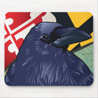 Citizen Raven Maryland s Nevermore Mousepads
