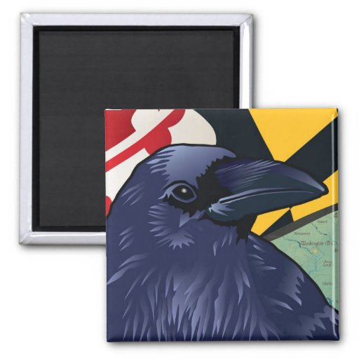 Citizen Raven, Maryland's Nevermore 2 Inch Square Magnet