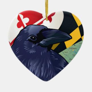 Citizen Raven, Maryland's Nevermore Ceramic Ornament