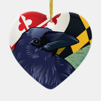 Citizen Raven, Maryland's Nevermore Christmas Tree Ornament