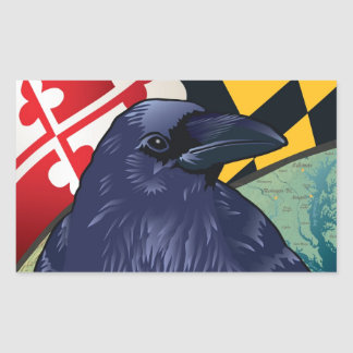 Citizen Raven, Maryland's Nevermore Rectangle Sticker