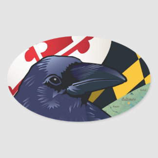 Citizen Raven, Maryland's Nevermore Oval Sticker