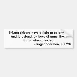 Citizen right to bear arms bumper sticker