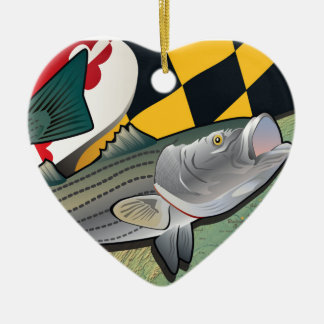 Citizen Rockfish of Maryland Christmas Ornaments