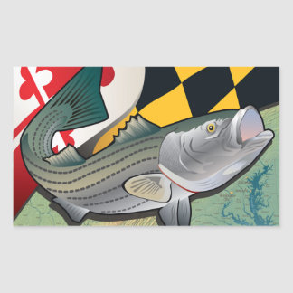 Citizen Rockfish of Maryland Rectangular Sticker