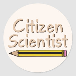 Round Sticker with Citizen Scientist design