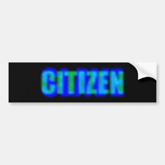 Citizen Slave Car Bumper Sticker