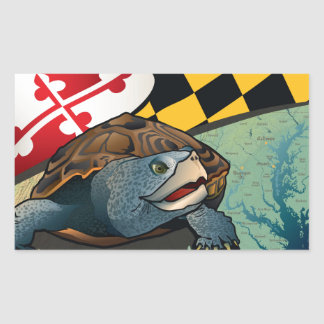 Citizen Terrapin, Maryland's Turtle Rectangular Stickers