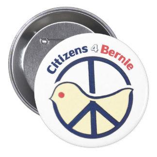 Citizens 4 Bernie 3 Inch Round Button