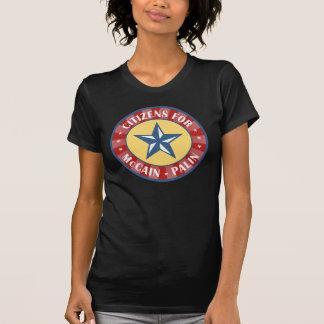 Citizens for McCain Palin T Shirts