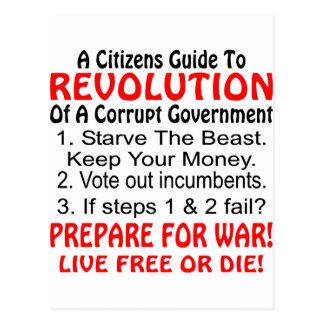 Citizens Guide To Revolution Of Corrupt Government Postcard