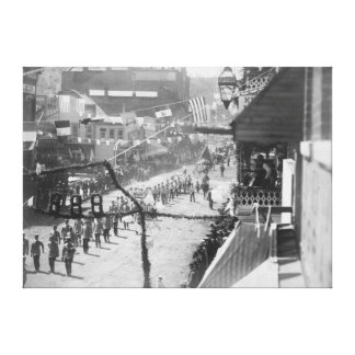 Citizens of Deadwood Celebrate Completion of Canvas Print