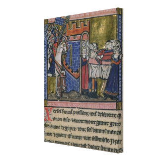 Citizens of Edessa Pay homage to Baldwin II Stretched Canvas Prints