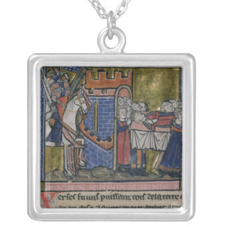 Citizens of Edessa Pay homage to Baldwin II Silver Plated Necklace