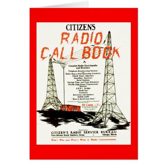 Citizens Radio Callbook Card