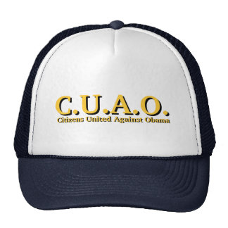 Citizens United Against Obama Mesh Hat