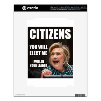 CITIZENS YOU WILL ELECT ME SKIN FOR THE NOOK