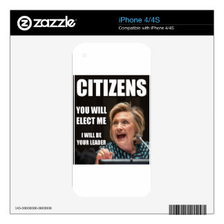 CITIZENS YOU WILL ELECT ME SKINS FOR THE iPhone 4S
