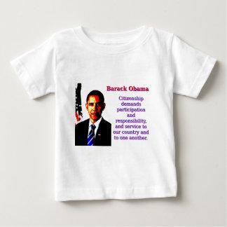 Citizenship Demands Participation - Barack Obama.j Baby T-Shirt
