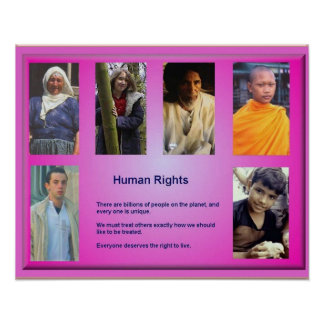 Citizenship, Human rights, Right to life Poster