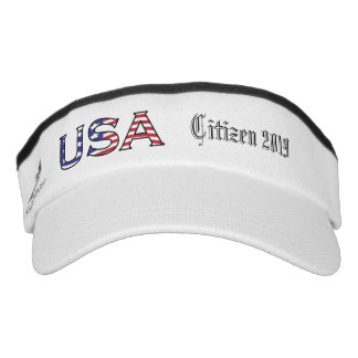 Citizenship Year USA Stars and Stripes Visor