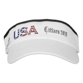 Citizenship Year USA Stars and Stripes Visor