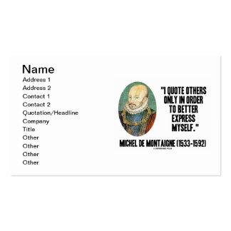 Cito otros solamente en la orden mejor expresa tarjetas de visita