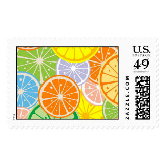 citric slices postage stamp