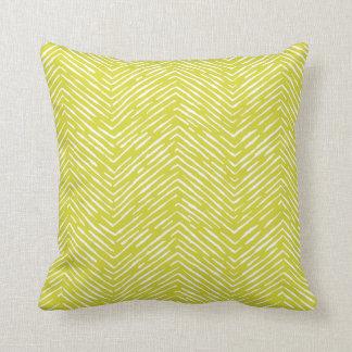 Citrine - almohada elegante blanca de la onda