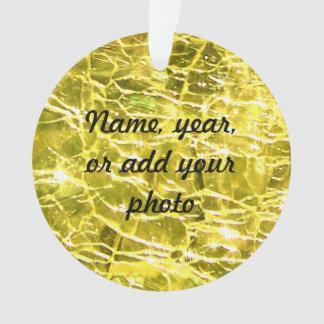 Citrine amarillo de cristal Crackled de Birthstone